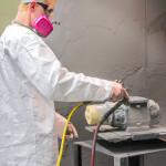 Employee painting Meters